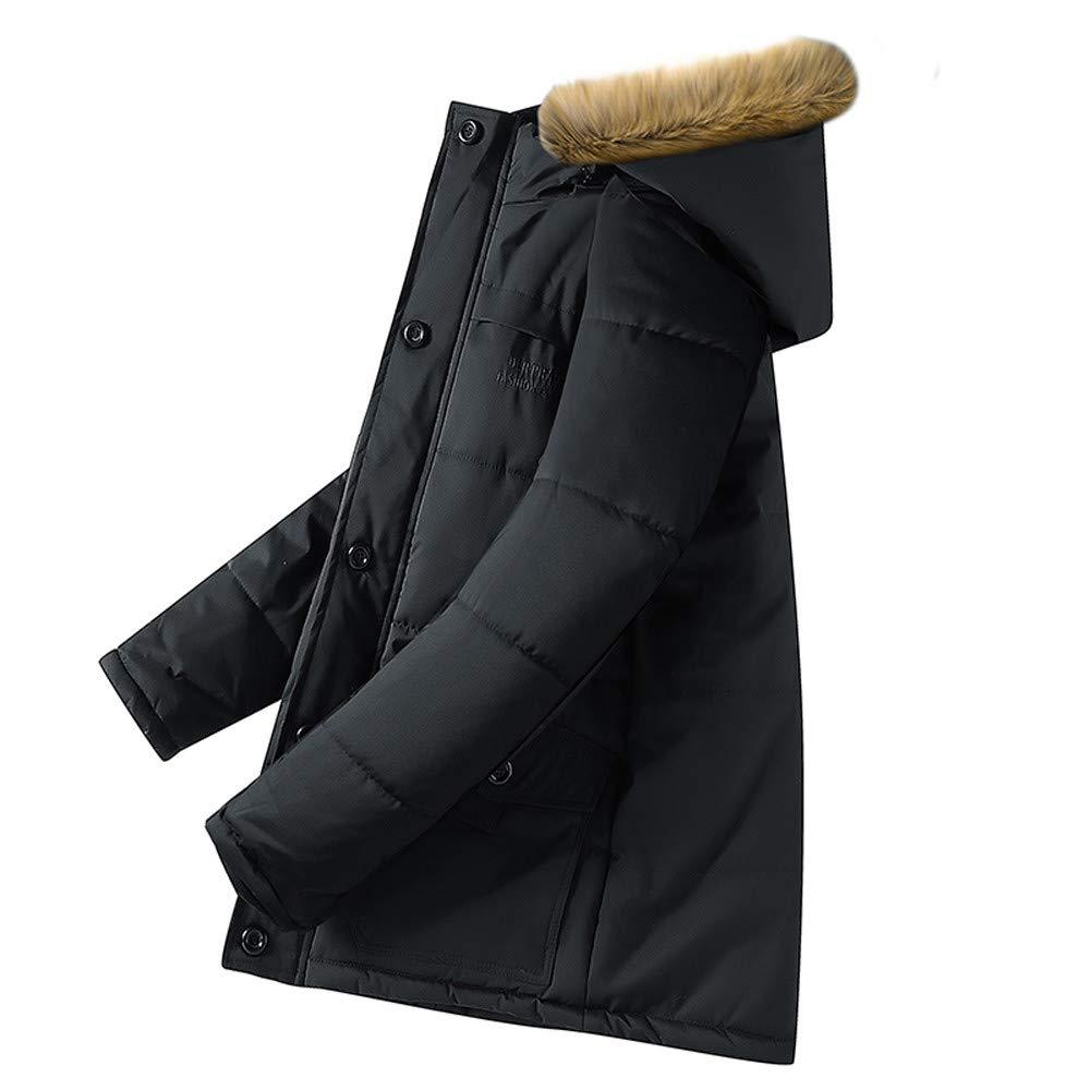 Bestow Abrigo de Invierno para Hombre Suéter Sudadera Chaleco Talla Grande Algodón con Capucha Engrosada: Amazon.es: Ropa y accesorios