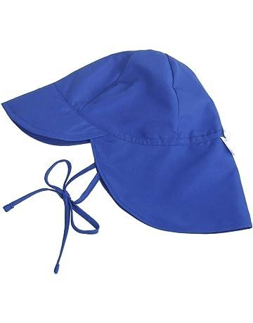 968e20dcf45dc MIMI KING Toddler Wide Brim Sun Hat Swim Flap Cap Summer Beach Sun  Protection Hat Baby