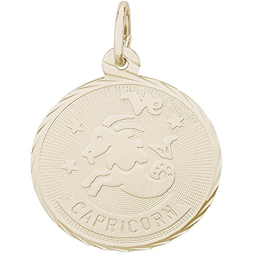 Rembrandt Charms Capricorn Charm, Gold Plated Silver (Gold Capricorn Charm Plated)