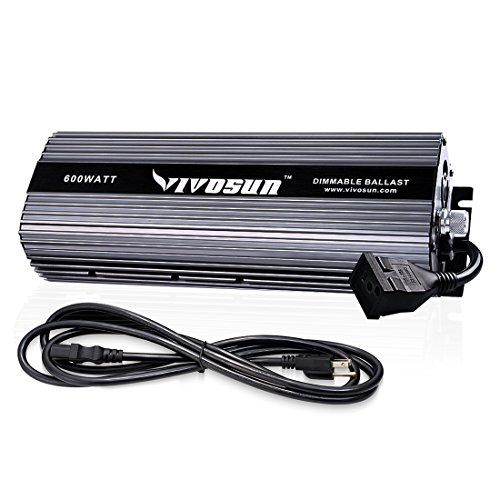 - VIVOSUN Horticulture 600 watt Dimmable Digital Electronic Ballast for Hydroponic HPS MH Grow Light, UL Listed & Soft Start Protection (Space gray)