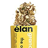 ELAN Healthy Granola, Low Sugar Diabetic Snack, Gluten Free Food (Almond Pecan, 12 Pack)