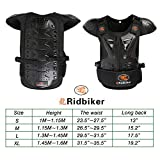 RIDBIKER Kids Motorcycle Armor Suit Dirt Bike Chest Spine Protector Back Shoulder Arm Elbow Knee Protector Body Armor Vest,Silver/Black