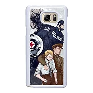 Custom made Case,Captain America and the winter soldier Cell Phone Case for Samsung Galaxy Note 5, White Case With Screen Protector (Tempered Glass) Free S-7307576