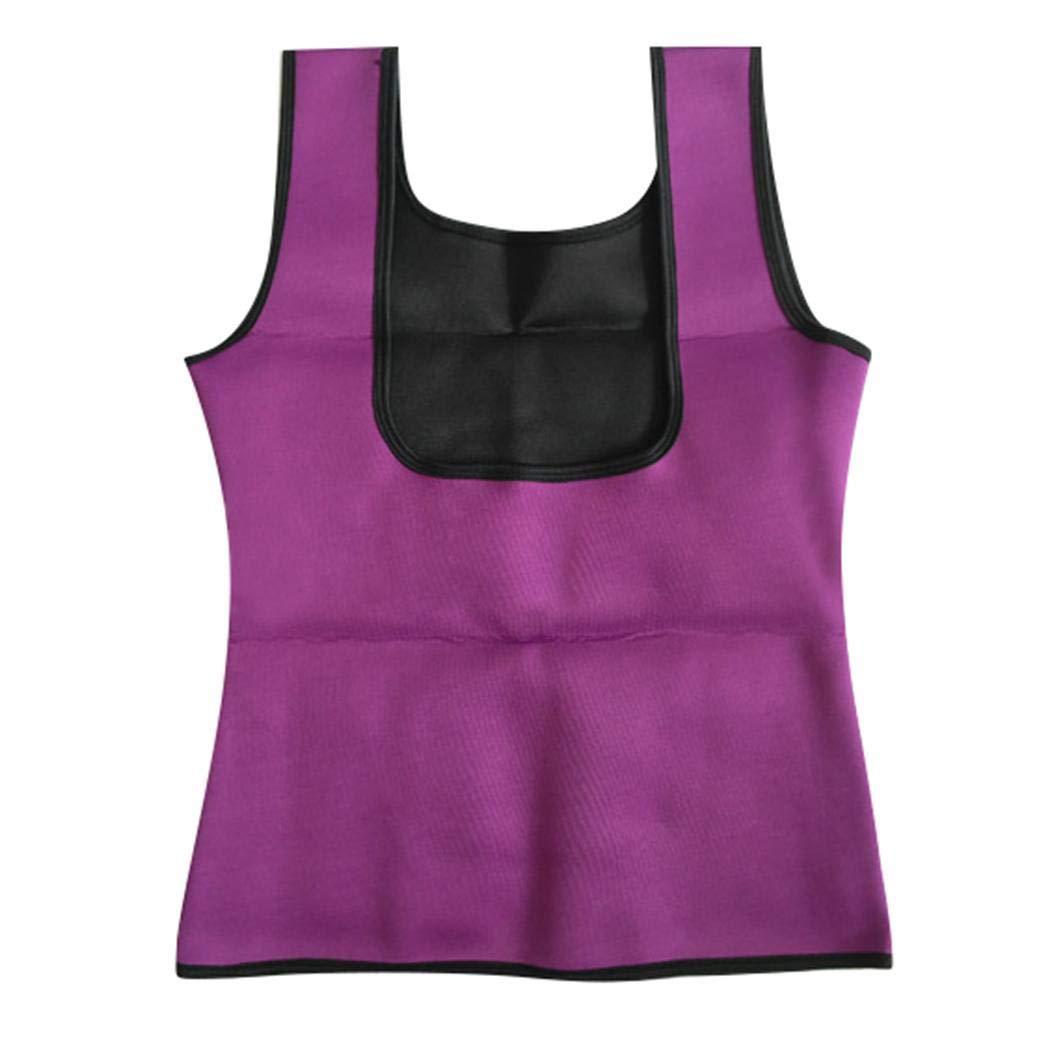 Voiks Women Waist Trainer Corset Neoprene Sweat Sauna Vest Zipper Weight Loss Tummy Control Body Shaper