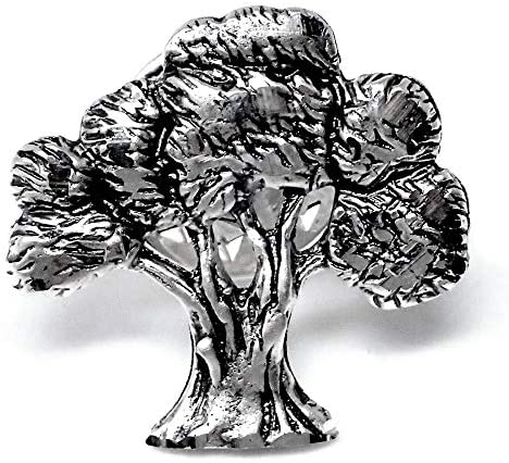 法925メートル銀のピン19ミリの木。マットオリーブ刻まれた内容の輝き