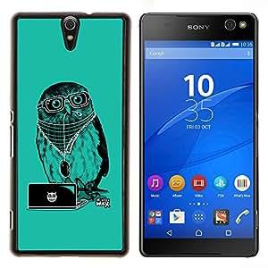 For Sony Xperia C5 Ultra Case , Enfriar Party DJ Búho- Diseño Patrón Teléfono Caso Cubierta Case Bumper Duro Protección Case Cover Funda