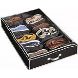 Richards Homewares Gearbox Sixteen Cell Shoe Organizer-Black/Grey