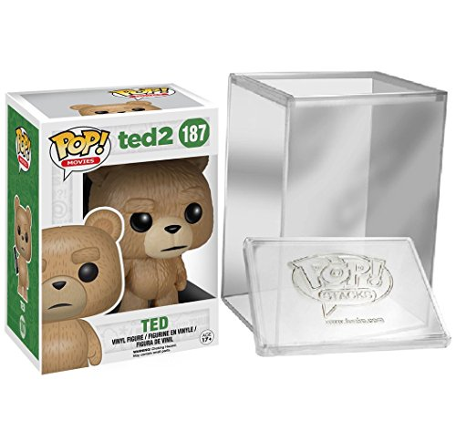 Funko Pop: Movies: Ted 2 - Ted With Remote Vinyl Figure + FUNKO PROTECTIVE CASE