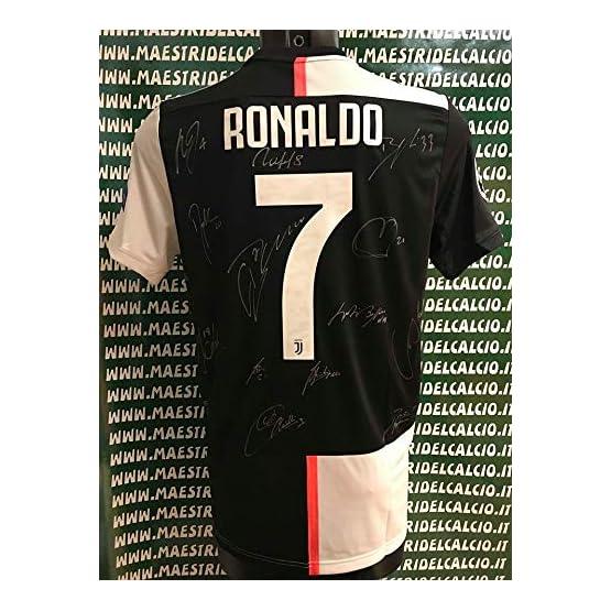 """Maestri du Foot Maillot Gara Home Champions League Ronaldo 7"""" CR7 Autographe F.C. Juventus Juve 2019/2020 Signature Joueurs"""