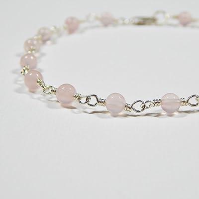 Rose Quartz Bracelet in Sterling Silver