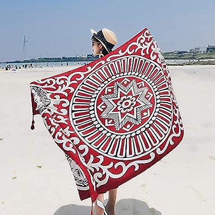 Bufandas Wraps chal toalla de playa hembra verano y verano viento nacional portátil ultrafino playa hembra