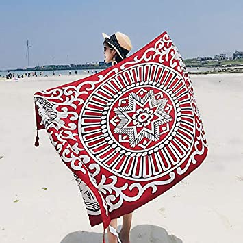 Bufandas Wraps chal toalla de playa hembra verano y verano viento nacional portátil ultrafino playa hembra doble uso pequeño chal rectángulo primavera y ...
