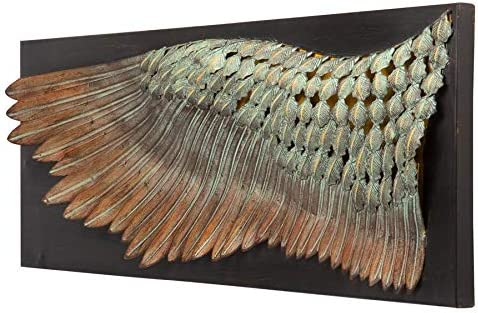 Design Toscano Feather Wing of Icarus Wall Sculpture, 36 Inch, Bronze Finish