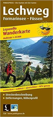 Lechweg Karte.Lechweg Formarinsee Füssen 1 25 000 Wanderkarte 9783899207286