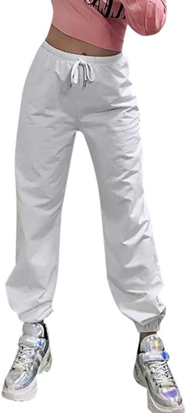 Strir Pantalones Deportivos Para Mujer Sueltos De Playa Pantalones Casuales Con Cordon Color Solido Comodos Suaves Pantalon De Chandal Amazon Es Ropa Y Accesorios