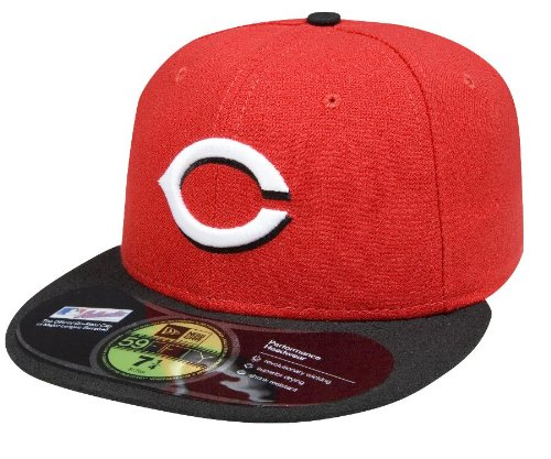 New Era Skate - MLB Cincinnati Reds Road AC On Field 59Fifty Fitted Cap-714