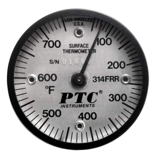 PTC 314FRR Industrial Ultra Magnetic Rail Surface Thermometer 50° to 750°F by PTC