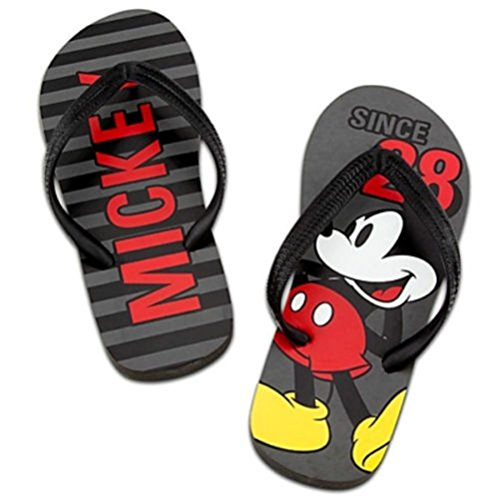 Disney Magasin Classique Mickey Hommes Flip Flops Sandales Chaussures Taille 9/10