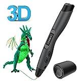 3D Printing Pen - The Ultimate Intelligent Portable Drawing Bundle Kit - Professional Innovative Design LED Screen Handheld Craft Art Doodler + 4 Filament Colors, Shovel & Free Downloadable Templates