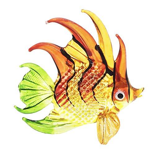 WitnyStore Handmade Animal Figurine Art Glass Blown Aquarium Sea Fish Figurine Best Gift