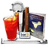 Boston Cocktail Shaker Set bar @drinkstuff Kit in recycelbarer Geschenkbox, enthält Professional Boston Cocktail Shaker, Glas und Blech &Rezeptbuch für 150 Drinks, gedrehtem Mixlöffel Cocktail-Stößel, &und Sieb