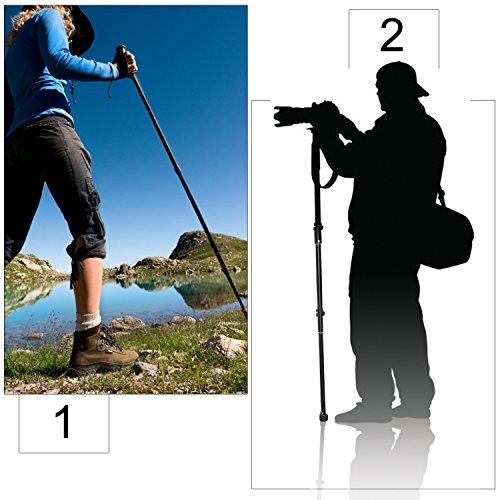 Crazefoto Photo 60-Inch Camera Monopod Alpenstock - Ultra Portable, Heavy Duty Design Compatible with Canon, Nikon and Sony