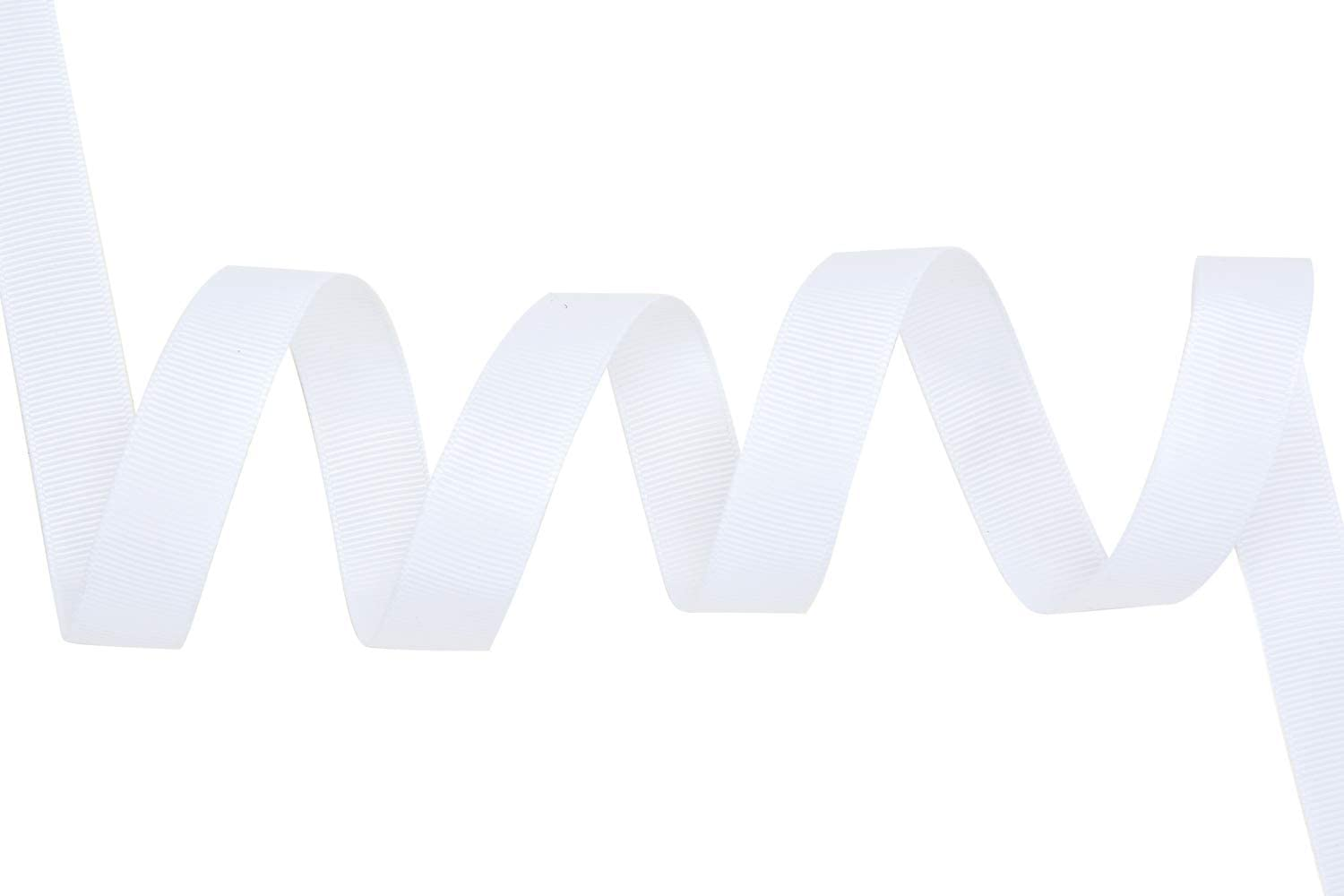 White YAMA 5//8 inch Solid Grosgrain Ribbon Roll 25 Yards for Gift Wrapping Ribbons