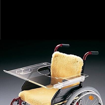 Ayudas dinamicas - Mesita transparente para silla de ruedas