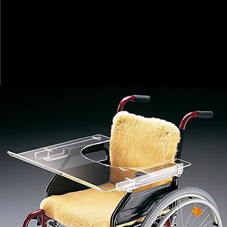 Ayudas dinamicas - Mesita transparente para silla de ruedas: Amazon.es: Salud y cuidado personal