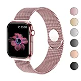 Compatible with Apple Watch Band 38mm 40mm 42mm 44mm,Stainless Steel Mesh Loop Replacement Parts for iWatch Band Series 4 3 2 1
