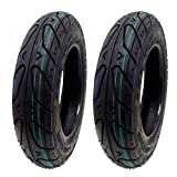SET OF TWO: Scooter Tubeless Street Tire 3.50-10 Front or Rear fits on 10 Inch Rim