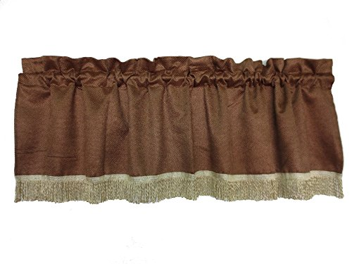 (Violet Linen Luxurious Chenille Abstract Collection Window Valance, 60