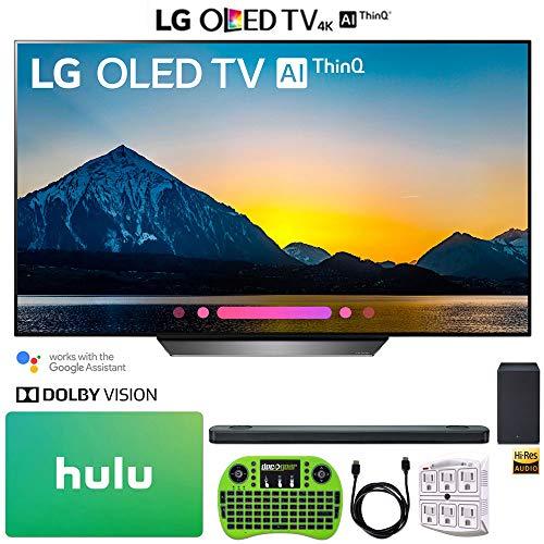 LG OLED55B8PUA 55″ Class B8 OLED 4K HDR AI Smart TV (2018) + LG SK9Y 5.1.2-Channel Hi-Res Audio Soundbar Dolby Atmos + Hulu $100 Gift Card + More
