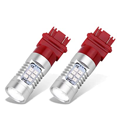 YITAMOTOR 3157 3156 3057 LED Bulb Red for Brake Tail Light, T25 3056 4157 3457K 4057 LED Bulbs for Truck Car Motorcycle, 21SMD, 12V-24V, 2-Pack (Red): Automotive