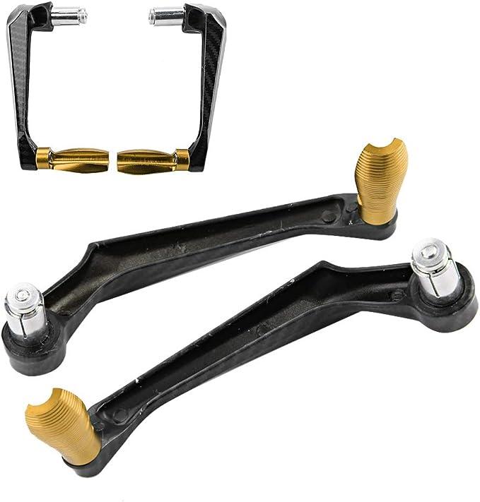Kimiss Universal 7 8in 22mm Cnc Aluminium Lenker Bremskupplungshebel Handschutz Protector Für Motorrad Motorrad Roller Elektroautos Mountainbikes Gold Auto