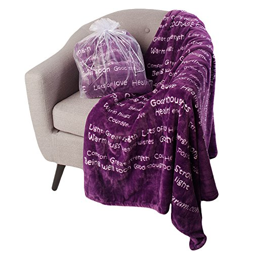 BlankieGram Healing Thoughts Blanket The Ultimate Healing Gift (Purple)
