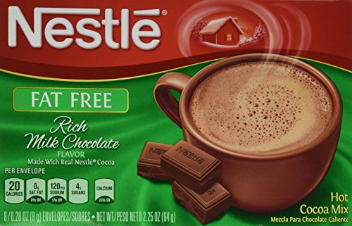 Nestle Hot Cocoa Mix, Carbselect Fat Free With Calcium, 8-Count Envelopes (Pack of - Free Cocoa