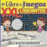 Mi Libro de Juegos XXL Laberintos: A partir de 5 años: 90 laberintos para niños intelectuales! Varias formas y niveles - Libro de juegos para niños - ... DE GRAN FORMATO - Cuaderno de vacaciones