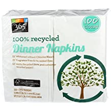 365 Everyday Value 100% Recycled Dinner Napkins, 100 Count