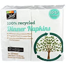 365 Everyday Value, 100% Recycled Dinner Napkins, 100 Count