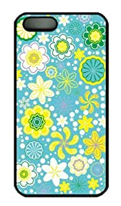 Hot iPhone 5S Customized Unique Print Design Floral Pattern New Fashion PC Black iPhone 5/5S Cases by supermalls