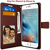 Foso iPhone 6 / 6S PU Leather Magnetic Flip Cover Case (Royal Brown)