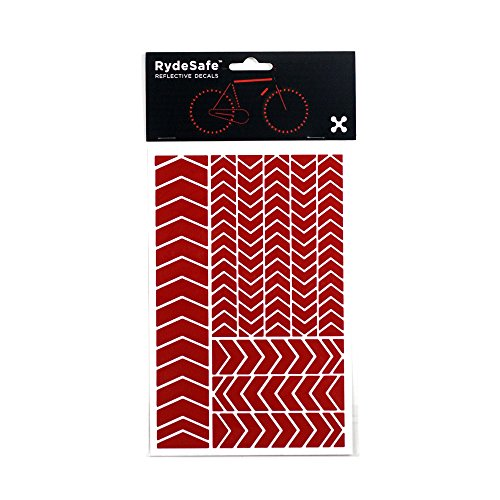 RydeSafe Reflective Decals Chevron Kit, Red, Large