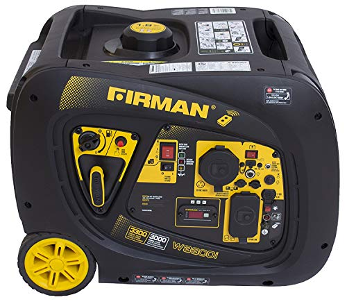 Firman W03083 3300/3000 Watt Remote Start Gas Portable Generator cETL and CARB Certified, Black ()