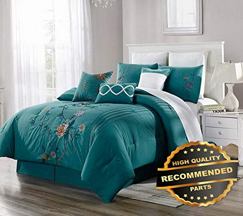 Sandover Ultra Soft Duvet Cover Set Embroidered Printed Design with 2 Pillow Shams   Size Cal-King   Style DUV-5301218201 ()