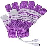 A-ginuK_HC パソコン中でも指先まで暖かい! 洗える USBヒーター手袋 男女兼用 (ピンク)