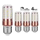 Gezee LED Corn Bulbs 12Watt 6000K Daylight White 100W Incandescent Bulbs Equivalent E27 Base 1200Lumens Non dimmable Small Edison Screw Appliance Light Bulb Cylindrical lamps (4 Packs)