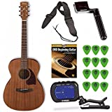 Ibanez PC12MH Mahogany Grand Concert Acoustic Guitar + Free DVD, Guitar Pics, Strap, String Winder, and Tuner