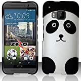 Cell Accessories For Less (TM) For HTC One M9 - Rubberized Design Hard Snap-On Cover - Panda Bear DP + Bundle (Stylus & Micro Cleaning Cloth) - By TheTargetBuys