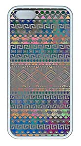 iPhone 4 4S Case, iCustomonline Beautiful Cool Colourful Aztec Geometric Pattern Case for iPhone 4 4S by runtopwell